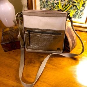 Metallic Iris Leather Crossbody Bag